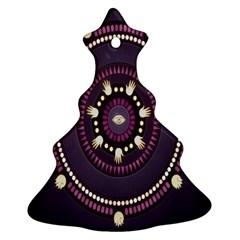 Mandalarium Hires Hand Eye Purple Christmas Tree Ornament (two Sides)