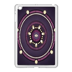 Mandalarium Hires Hand Eye Purple Apple Ipad Mini Case (white)