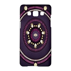 Mandalarium Hires Hand Eye Purple Samsung Galaxy A5 Hardshell Case