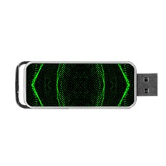 Green Foam Waves Polygon Animation Kaleida Motion Portable Usb Flash (one Side)