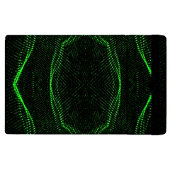 Green Foam Waves Polygon Animation Kaleida Motion Apple Ipad 3/4 Flip Case