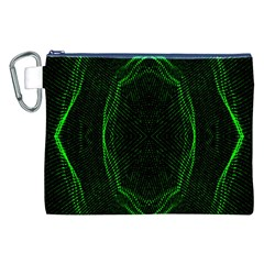 Green Foam Waves Polygon Animation Kaleida Motion Canvas Cosmetic Bag (xxl)