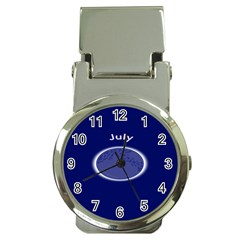 Moon July Blue Space Money Clip Watches