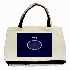 Moon July Blue Space Basic Tote Bag