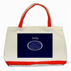 Moon July Blue Space Classic Tote Bag (red)