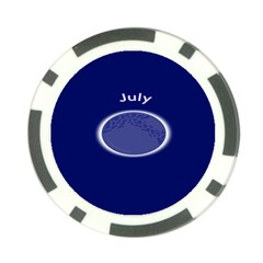 Moon July Blue Space Poker Chip Card Guard (10 Pack)