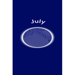 Moon July Blue Space 5 5  X 8 5  Notebooks