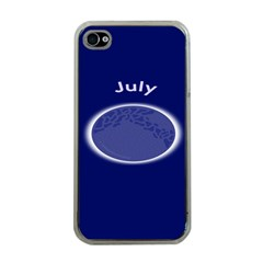 Moon July Blue Space Apple Iphone 4 Case (clear)