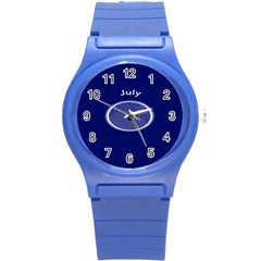 Moon July Blue Space Round Plastic Sport Watch (s)