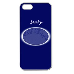 Moon July Blue Space Apple Seamless Iphone 5 Case (clear)