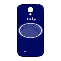 Moon July Blue Space Samsung Galaxy S4 I9500/i9505  Hardshell Back Case