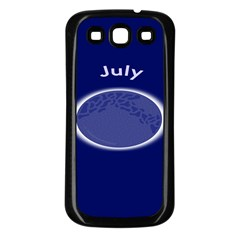 Moon July Blue Space Samsung Galaxy S3 Back Case (black)