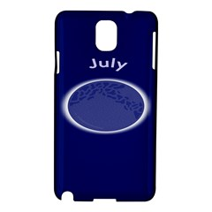 Moon July Blue Space Samsung Galaxy Note 3 N9005 Hardshell Case