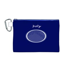 Moon July Blue Space Canvas Cosmetic Bag (m)