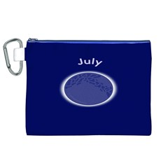 Moon July Blue Space Canvas Cosmetic Bag (xl)