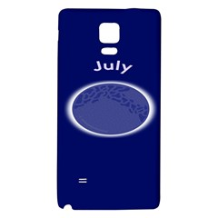 Moon July Blue Space Galaxy Note 4 Back Case