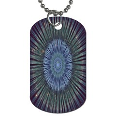 Peaceful Flower Formation Sparkling Space Dog Tag (two Sides)