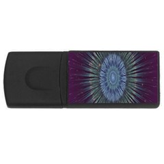 Peaceful Flower Formation Sparkling Space Rectangular Usb Flash Drive