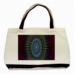 Peaceful Flower Formation Sparkling Space Basic Tote Bag