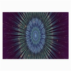 Peaceful Flower Formation Sparkling Space Large Glasses Cloth