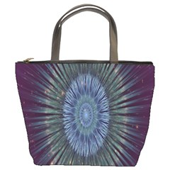 Peaceful Flower Formation Sparkling Space Bucket Bags