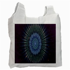 Peaceful Flower Formation Sparkling Space Recycle Bag (one Side)