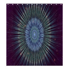 Peaceful Flower Formation Sparkling Space Shower Curtain 66  X 72  (large)