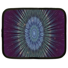 Peaceful Flower Formation Sparkling Space Netbook Case (xxl)