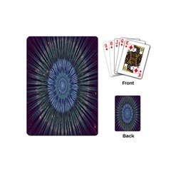 Peaceful Flower Formation Sparkling Space Playing Cards (mini)