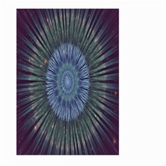 Peaceful Flower Formation Sparkling Space Large Garden Flag (two Sides)