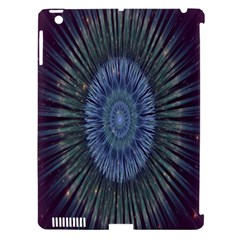 Peaceful Flower Formation Sparkling Space Apple Ipad 3/4 Hardshell Case (compatible With Smart Cover)