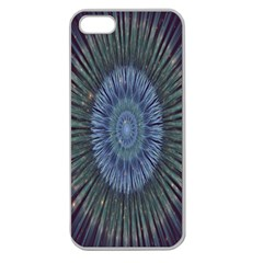 Peaceful Flower Formation Sparkling Space Apple Seamless Iphone 5 Case (clear)