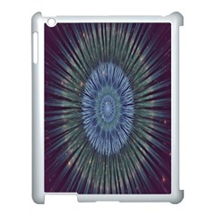 Peaceful Flower Formation Sparkling Space Apple Ipad 3/4 Case (white)