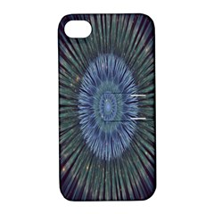 Peaceful Flower Formation Sparkling Space Apple Iphone 4/4s Hardshell Case With Stand