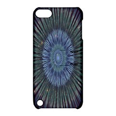 Peaceful Flower Formation Sparkling Space Apple Ipod Touch 5 Hardshell Case With Stand
