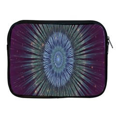 Peaceful Flower Formation Sparkling Space Apple Ipad 2/3/4 Zipper Cases