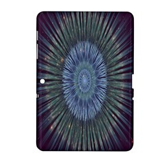 Peaceful Flower Formation Sparkling Space Samsung Galaxy Tab 2 (10 1 ) P5100 Hardshell Case
