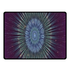 Peaceful Flower Formation Sparkling Space Double Sided Fleece Blanket (small)