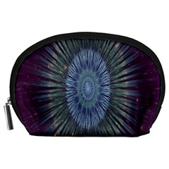 Peaceful Flower Formation Sparkling Space Accessory Pouches (large)