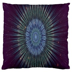 Peaceful Flower Formation Sparkling Space Large Flano Cushion Case (one Side)