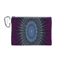 Peaceful Flower Formation Sparkling Space Canvas Cosmetic Bag (m)