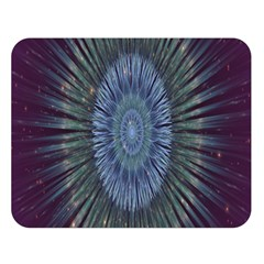 Peaceful Flower Formation Sparkling Space Double Sided Flano Blanket (large)