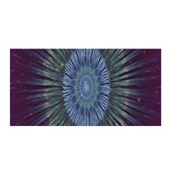 Peaceful Flower Formation Sparkling Space Satin Wrap