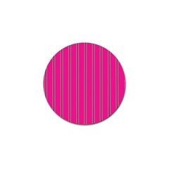 Pink Line Vertical Purple Yellow Fushia Golf Ball Marker (4 Pack)