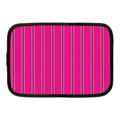 Pink Line Vertical Purple Yellow Fushia Netbook Case (medium)