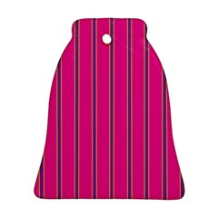 Pink Line Vertical Purple Yellow Fushia Bell Ornament (two Sides)