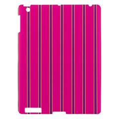 Pink Line Vertical Purple Yellow Fushia Apple Ipad 3/4 Hardshell Case