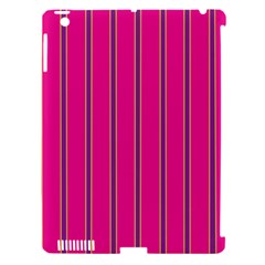 Pink Line Vertical Purple Yellow Fushia Apple Ipad 3/4 Hardshell Case (compatible With Smart Cover)