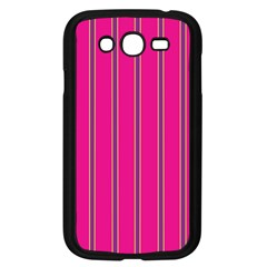 Pink Line Vertical Purple Yellow Fushia Samsung Galaxy Grand Duos I9082 Case (black)