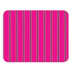 Pink Line Vertical Purple Yellow Fushia Double Sided Flano Blanket (large)